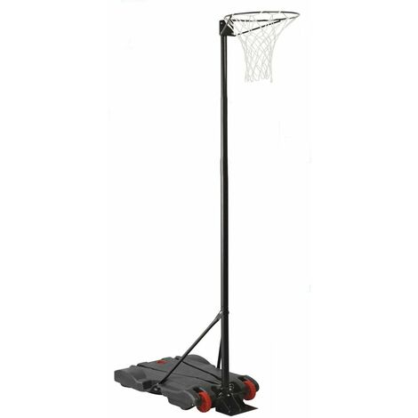 "main image of ""Charles Bentley Portable Adjustable Free Standing Netball Post 1.4-2.75m - Black"""