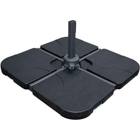 Charles Bentley Premium Concrete Parasol Base - 25kg per segment - 2 segments