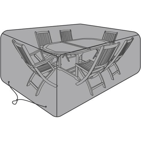 Charles Bentley Premium Rectangular Garden 6 Seat Furniture Cover - Black