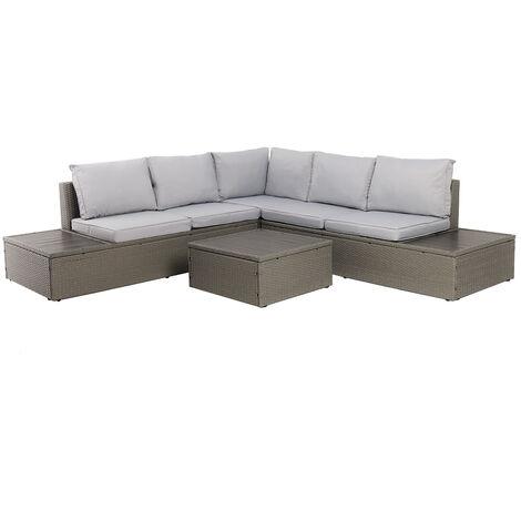 Charles Bentley Rattan & Polywood Corner Lounge Set