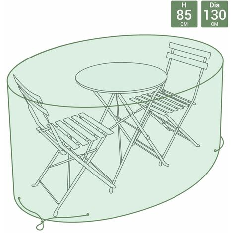 Charles Bentley Small Furniture Cover/Bistro Set Cover - Green - Green