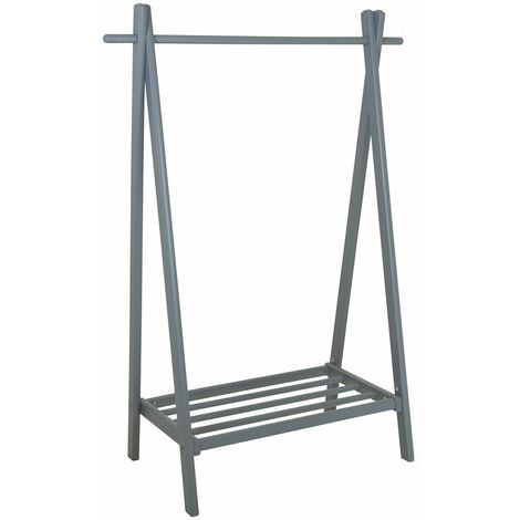 Charles Bentley Small Solid Wood Hanging Clothes Rail/Clothing Stand/Shoe Rack