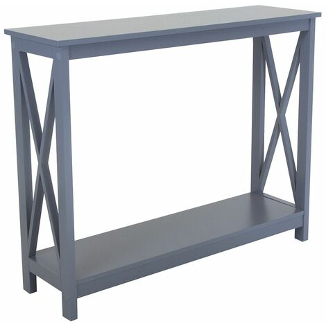 Charles Bentley Tetbury Country Style Wooden Hallway Side Console Table Grey - Grey