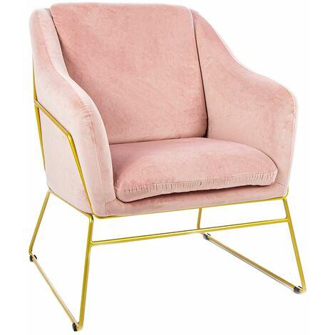 Charles Bentley Tilburg Velvet Occasional Chair Powder Pink Home Living - Pink