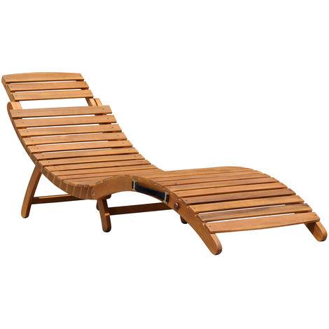 tumbona de madera plegable