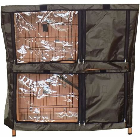 """main image of """"Charles Bentley Two Storey Pet Hutch Cover PETHUTCH02 - Black"""""""