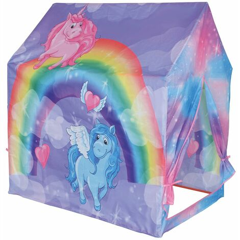 Charles Bentley Unicorn/Rainbow/Magic Play Tent/Wendy House/Playhouse/Den