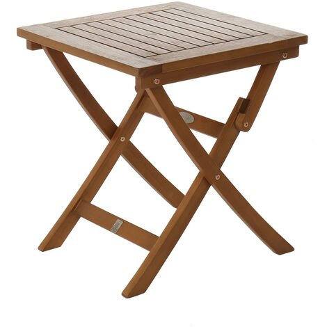 """main image of """"Charles Bentley Wooden Square Foldable Table FSC Certified - Brown"""""""
