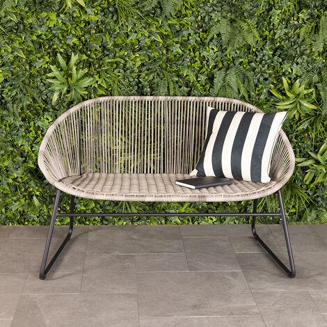 "main image of ""Charles Bentley Zanzibar 2 Seater Outdoor Garden Patio Bench Grey - Grey"""