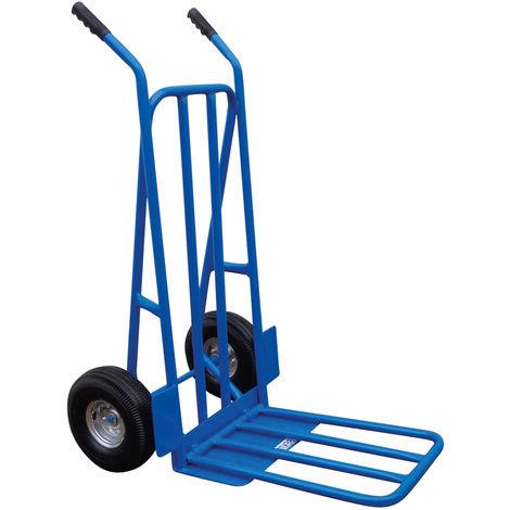 Charles Diable pliant - roues pneumatiques - bleu - capacité 300 kg