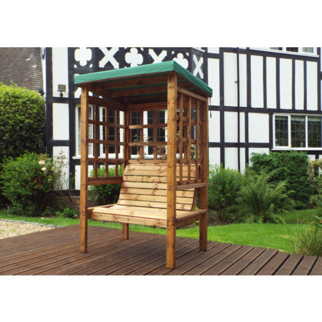 Charles Taylor Two Seat Arbour Green Canopy. Green Cushion Set Plus 1 Free Scatter Cushion. Fully Assembled. UK Mainland Only.10 Year Rot Free Guarantee.