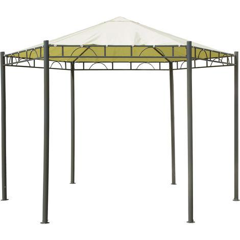 Charles Tonnelle hexagonale - jardin/mariage - beige - 3,5 m