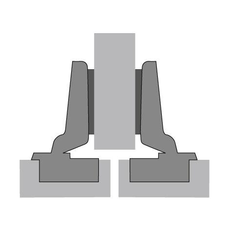 Charnière HETTICH Intermat 9943 - Base 12,5 mm - TH 42 - À visser - 48049