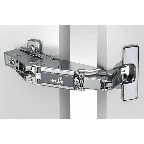 Charnière intermat 8687 165° - Amortisseur : Sans - Coudure : 0 mm - Décor : Nickelé - Diametre boîtier : 35 mm - Entraxe : 52 mm - Epaisseur porte maxi : 32 mm - Epaisseur porte mini : 15 mm - Fixat - Diametre boîtier : 35 mm