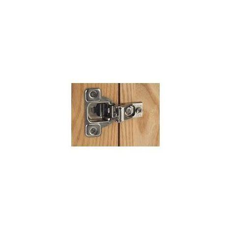 Charnière invisible pour cadre - Amortisseur : Sans - Diametre boîtier : 35 mm - Montage : Pour cadre - Fixation : A visser - Ouverture : 110° - Décor : Nickelé - Epaisseur porte maxi : 35 mm - Epais - Fixation : A visser