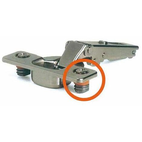 Charnière invisible rapido salice - Amortisseur : Sans - Push : Non - Diametre boîtier : 35 mm - Fixation : Sans outils - Ouverture : 110° - Coudure de charnière : 9 mm - Décor : Nickelé - Série : Ra - Fixation : Sans outils