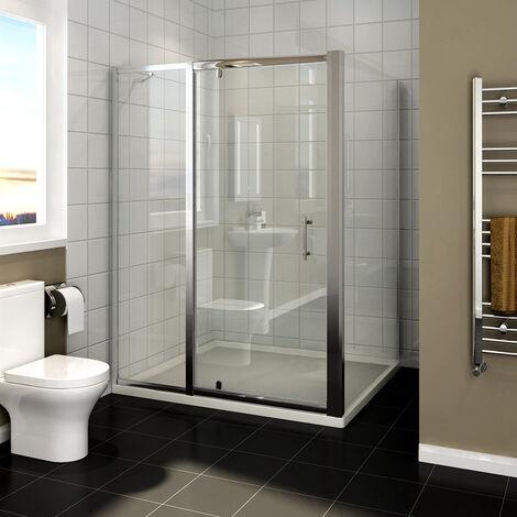 Charnière pivotante pour porte cabine de douche avec panneau latéral