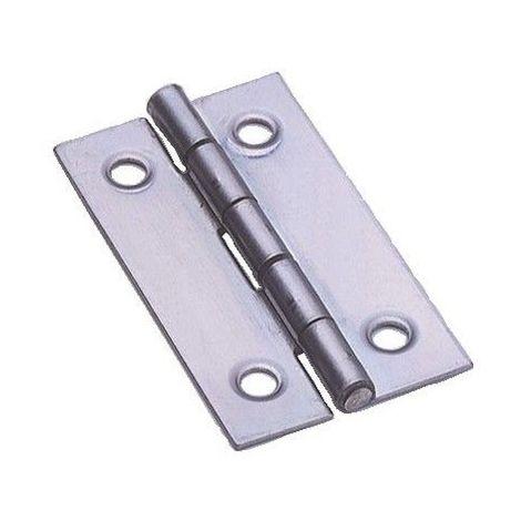 ITAR Largeur ouverte : 19 mm : Hauteur : 30 mm D/écor : Acier d/écap/é Charni/ère simple