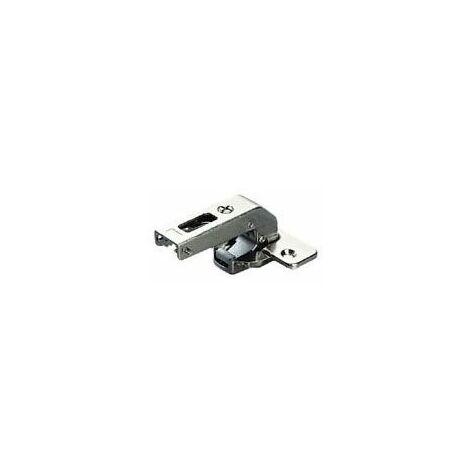 Charnière spéciale pour cadre série 300 - Matériau : Acier - Profondeur boîtier : 11 mm - Amortisseur : Sans - Diametre boîtier : 35 mm - Montage : Pour cadre - Fixation : A visser - Décor : Nickelé