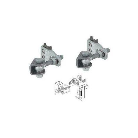 """main image of """"Charnières porte industrielle, réglage quadridimensionel 4-D boulon M20 LOCINOX - GBMU4D20B2."""""""