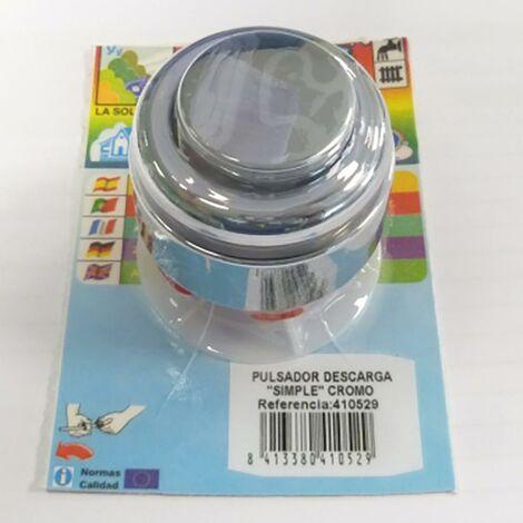 Chasse d'eau simple � bouton poussoir chrom� S&M 410529