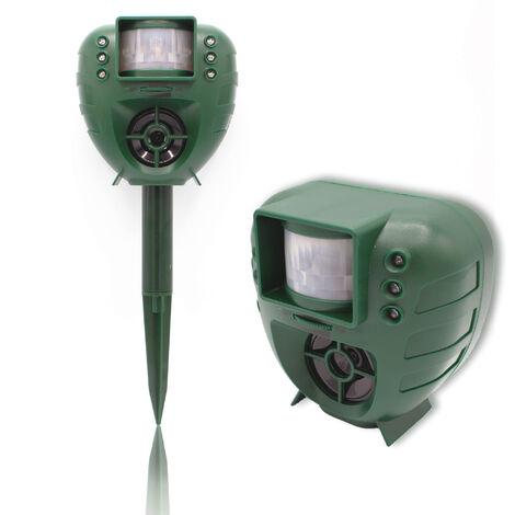Chasse Nuisibles Ultrasons et Flash LED - Répulsif Chien, Chat, Oiseau - Détecteur de Mouvements