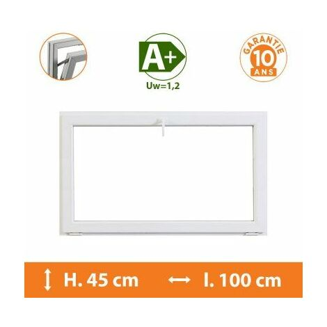 Chassis Abattant Blanc - H.45 x l.100 cm - Blanc