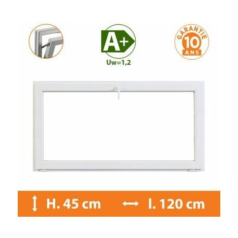 Chassis Abattant Blanc - H.45 x l.120 cm - Blanc