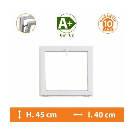 Chassis Abattant Blanc - H.45 x l.40 cm - Blanc