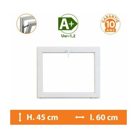 Chassis Abattant Blanc - H.45 x l.60 cm - Blanc