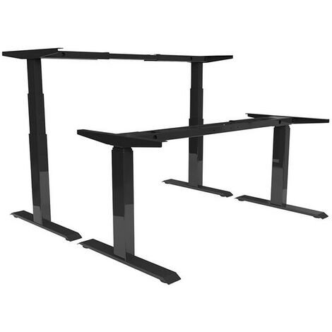 Châssis de table électrique assis / debout, 695-1145 noir