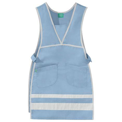 Chasuble Melie bleu ciel et blanc 50/50 polyester/coton LAFONT - Taille 0/2 - 8CHC00PC011750/0-2