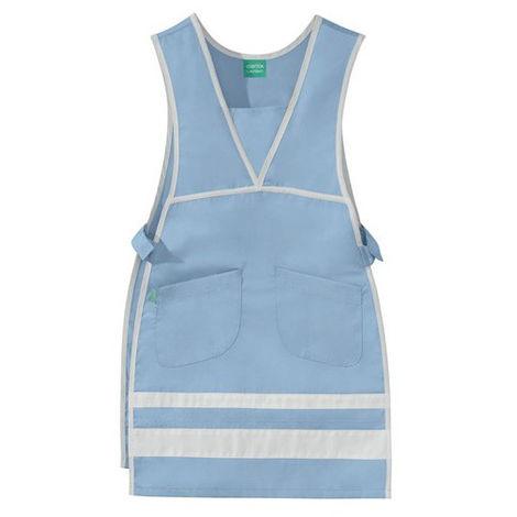 Chasuble Melie bleu ciel et blanc 50/50 polyester/coton LAFONT - Taille 3/5 - 8CHC00PC011750/3-5