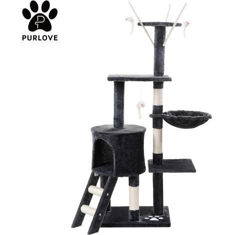 Chat chaton arbre chat jouer tour maison chat grattoir centres d'activité poteau à gratter avec échelles condo