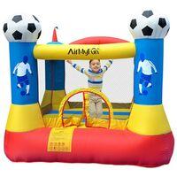 Château gonflable pour enfants 2,25m : aire de jeux gonflable rebondissante - souffleur et sac de rangement inclus - Football Aréna Castle