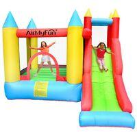 Château Gonflable pour enfants 2,80m - Aire de jeux avec Toboggan et mur d'escalade - souffleur et sac de rangement inclus - Play4Fun Sunny Jelly
