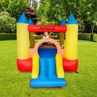 Château gonflable pour enfants 2,8m : aire de jeux gonflable avec toboggan - souffleur et sac de rangement inclus - Castle Bouncer