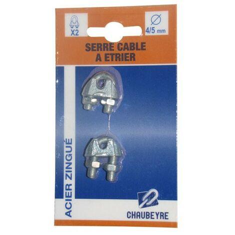 CHAUBEYRE - Serre câble étrier standard - lot de 2 - D: 4-5 mm