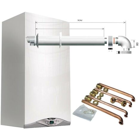 Chaudière à condensation Ariston CARES PREMIUM 24kW EU2 avec kit fumées et raccords 3301322