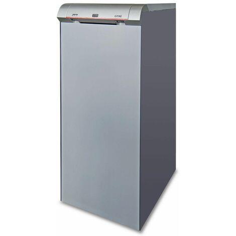 """Chaudière fonte FUEL GITRE avec eau chaude sanitaire avec brûleur flamme bleue - GITRE 5 - Puissance 32 kW """"Low Nox"""" avec ballon ECS 100 litres"""