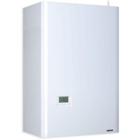 Chaudière gaz 25kW basse température chauffage + ECS évacuation cheminée murale ballon 100l intégré cde radio FRISQUET B4AJ25060