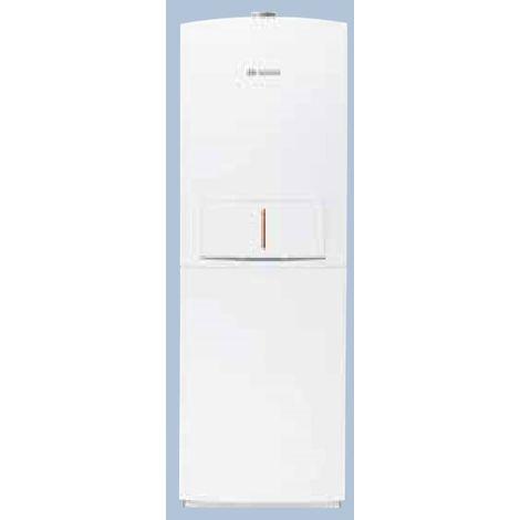 Chaudière gaz à condensation 14kW au sol chauffage + ECS ballon 100l stratifié ventouse CONDENS 5000 FM BOSCH BOS 7738100200