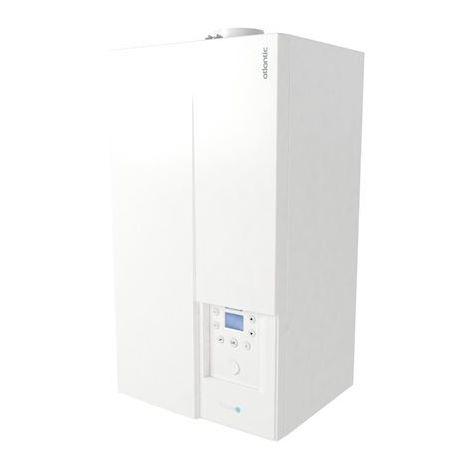 Chaudière gaz à condensation 22kW murale chauffage + ECS accumulation 14.2l/min sortie Ventouse NAIA MICRO 30 ATLANTIC 021252