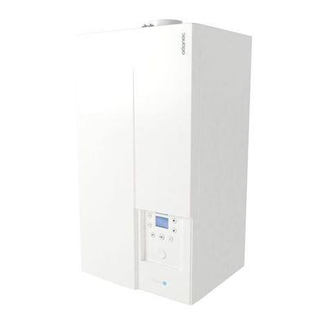 Chaudière gaz à condensation 25kW murale chauffage + ECS accumulation 17l/min sortie ventouse NAIA MICRO 35 ATLANTIC 021253