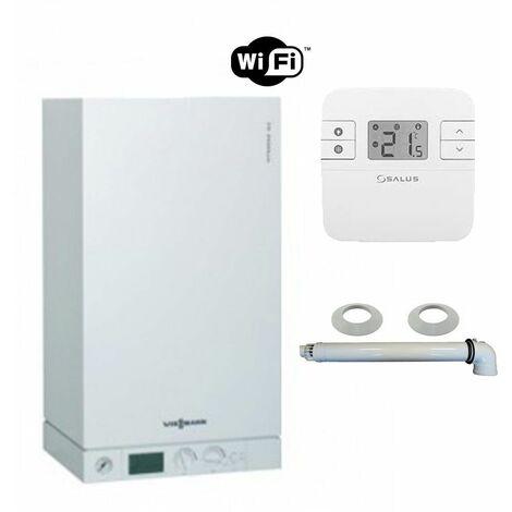 chaudi re gaz condensation vitodens 100 w viessmann 26 kw avec ventouse et thermostat connect