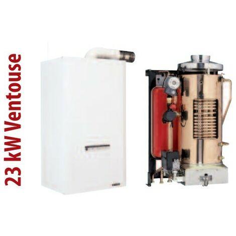 Chaudiere gaz conventionnelle 23KW chauffage + ECS à ventouse 60/100 - 80/125 H/V murale sans dosseret HYDROMOTRIX TRADITION