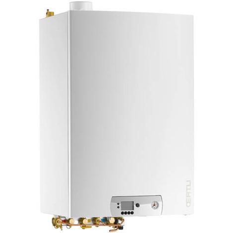 Chaudière gaz murale condensation chauf+ECS 40l ventouse hor