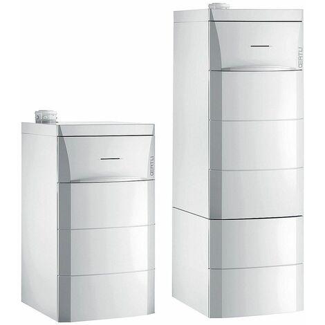 Chaudière sol fioul modulante à condensation OenoviaFioul Confort OSCR chauffage seul - OSCR 24 E - Puissance 14,1 à 24 kW - cheminée