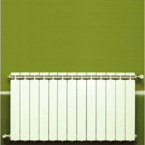 Chauffage central fonte aluminium 13 éléments blanc KLASS 350, 1105w