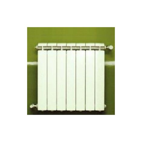 Chauffage central fonte aluminium 7 éléments blanc KLASS 500, 812w
